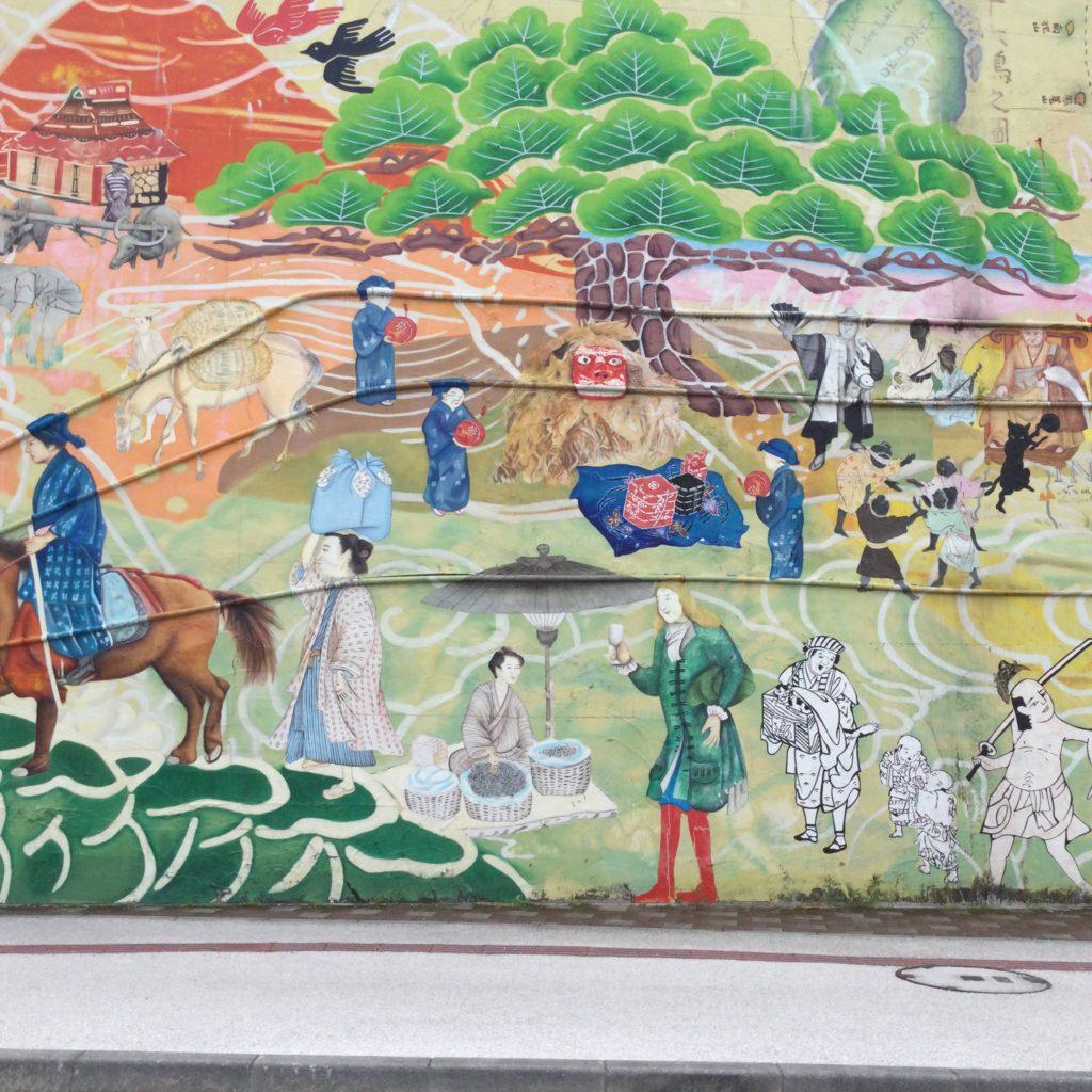 コザの壁画アートの写真/沖縄のフリー素材